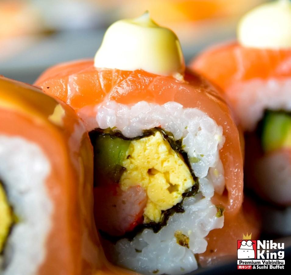 ซูซิ ไข่หวาน ปลาแซลม่อน niku king