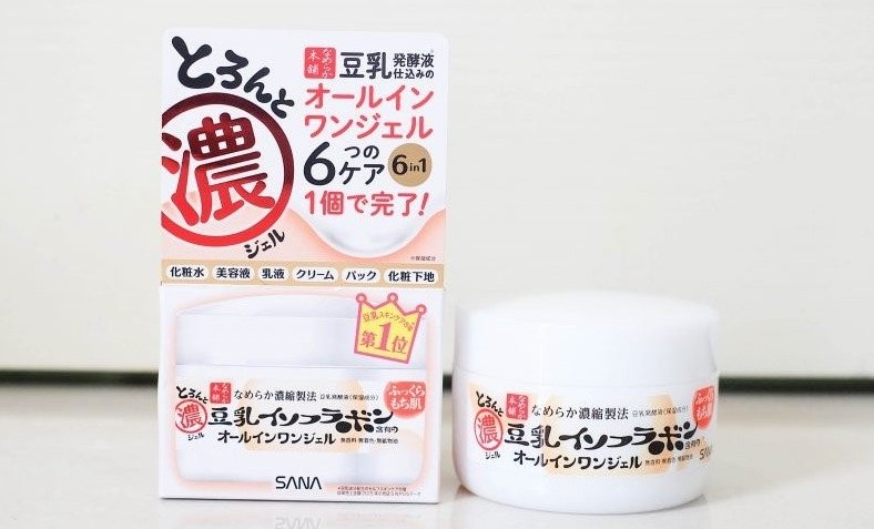 SANA Japan Nameraka Honpo Soy Isoflavone All-in-1 Face Moisture Gel Cream