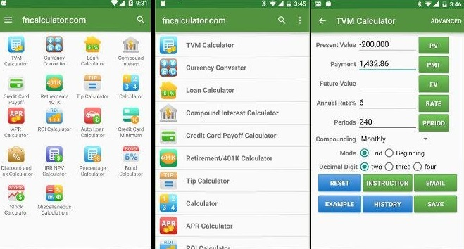 App Financial Calculators