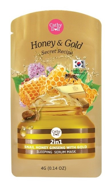 Cathy Doll 2in1 Snail Honey Ginseng with Gold Serum Sleeping Mask