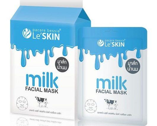 Le'Skin Milk Facial Mask